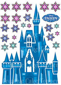 Edible Disney FROZEN CASTLE Princess Snowflake Stand ups Birthday