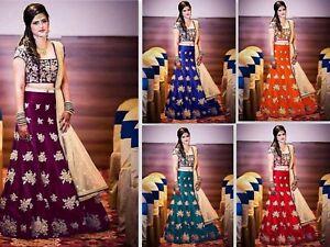 3972fe4ebd Image is loading Pakistani-Lehenga-Bollywood-Indian-Lengha-Choli-Wedding- wear-