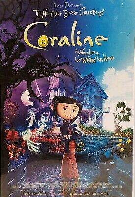 The Nightmare Before Christmas Coraline Movie Wall Print Poster 4250795894766 Ebay