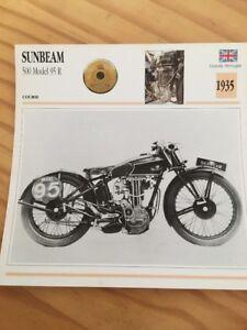 Sunbeam-500-Modell-95R-1935-Karte-Motorrad-Sammlung-Atlas-UK