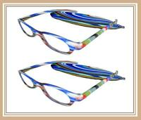 Mr.reading Glasses [+1.00] 2 Plastic Frame Fashion Design Matching Pouch 1.00