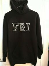 FBI  Black Sweatshirt with Hoodie  Small EUC