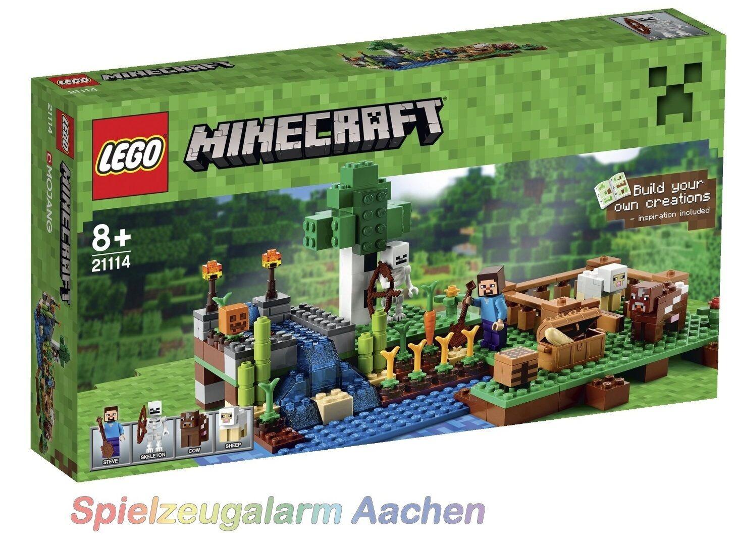 LEGO  21114 Minecraft la Fattoria La Ferme a Steve ossatura MUCCA PECORA la Hacienda  sconto