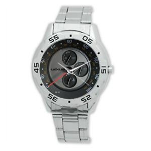 Personalised-Men-039-s-Lexus-Wristwatch-Adjustable-Stainless-Steel-Strap-Steel-Bezel