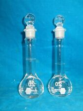 Two 2 20ml Kimax Heavy Duty Glass Flasks With Stoppers 92812