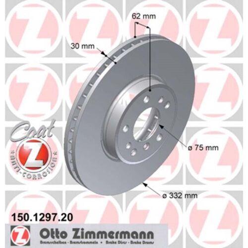 2 Zimmermann Bremsscheiben BMW X5 E53 3,0 4,4 vorne vorn
