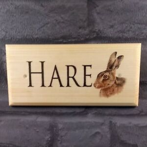 hand made ornament for house or garden Hare plaque