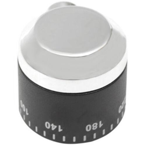 Rangemaster 8163 8164 90 céramique four et plaque de cuisson Switch Knob Chrome Noir Argent