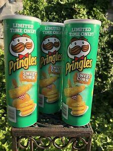 Set-Of-3-Pringles-Sweet-Corn-Flavored-Potato-Chips-Crisps-LIMITED-EDITION-5-5-OZ