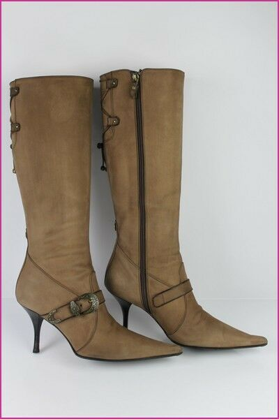 Bottes LUCIANO PADOVAN 39,5 Tout Cuir Chamois 39,5 PADOVAN IT / 40,5 FR TBE 62cd09