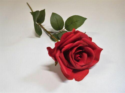Rose Bauernrose Seidenblume Kunstblume 65 cm rot N-88713-3 F6