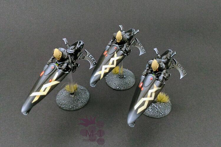 Warhammer 40k Eldar  Ulthwe Windraiders M1 painted  colorways incredibili