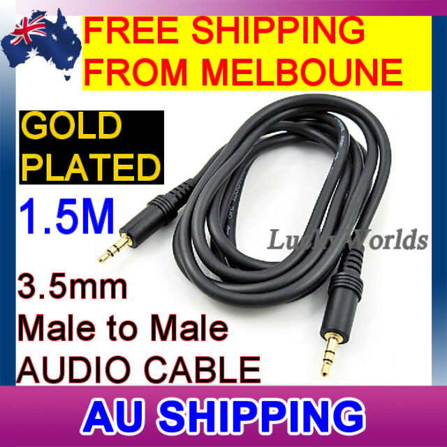 3.5mm Aux Auxiliary Stereo Audio Cable - Male to Male Auxiliary cable