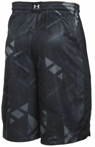 UNDER ARMOUR UA MEN/'S 11-IN TRIANGLE O PRINTED SHORTS BLACK BLUE RED M L XL XXL