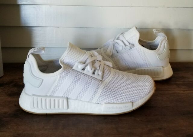 Adidas NMD_R1 Casual Shoes White Gum Brown D96635 Men's NEW Size 10