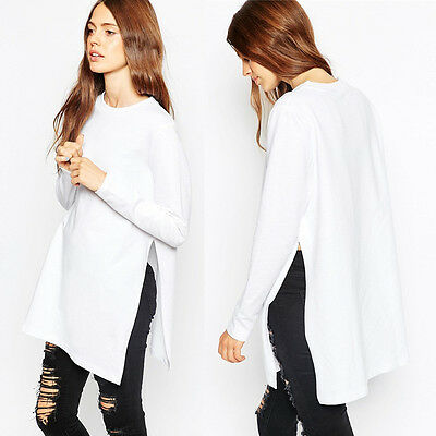 Fashion Women's Loose Long Sleeve Cotton Blouse T-Shirt Tops Casual Blouse Tee