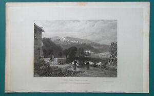 ITALY-Vico-Varo-near-Tivoli-1833-Antique-Print-Engraving