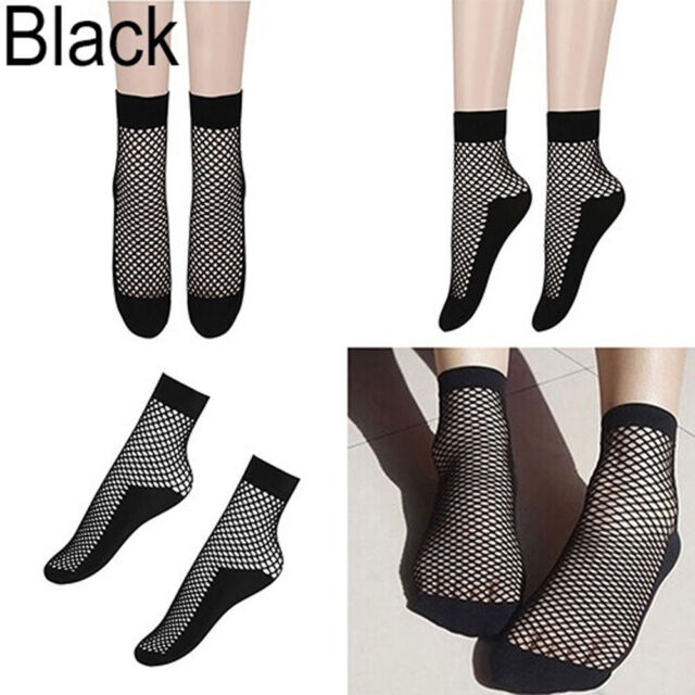 Out Women Breathable Lace Fishnet Socks Short Socks Mesh Net Socks Ankle Socks