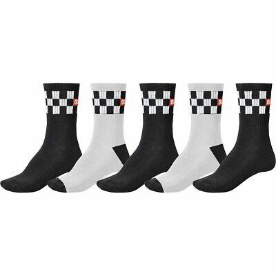 Globe Socks 5 Pack Blackout Crew Black Size 12-15 Skateboard Sox