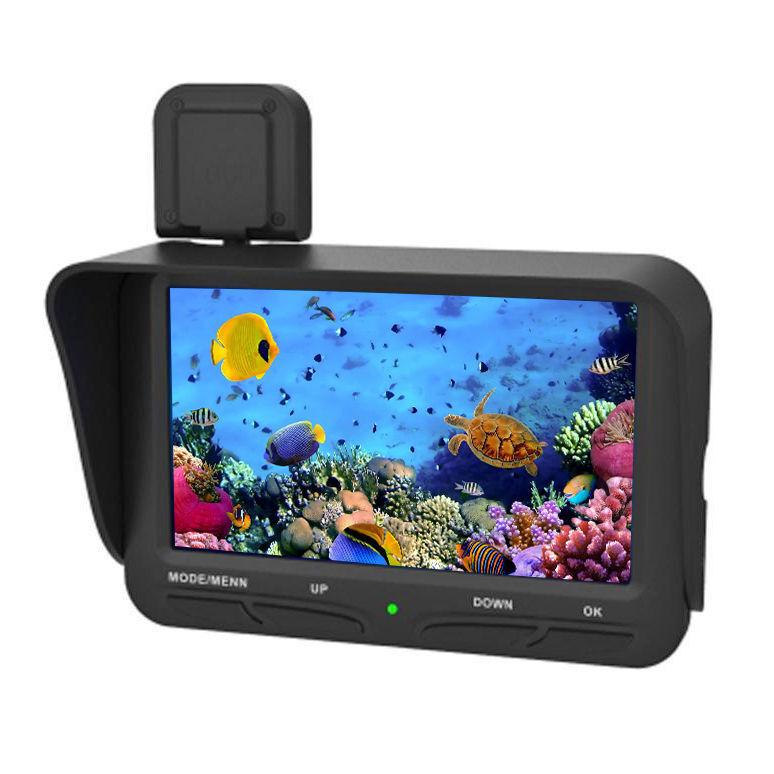 4.3 LCD moniteur avec caméra dessus de l'eau Fish Finder Vidéo Pêche 6LED