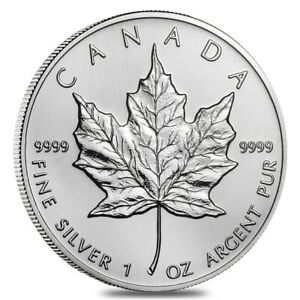 2002-1-oz-Silver-Canadian-Maple-Leaf-9999-Fine-5-Coin-BU-Sealed