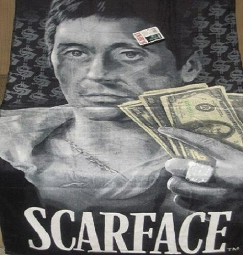 New Original Scarface Hustler Tony Montana Beach Bath Gift Towel 100 Dollar Bill