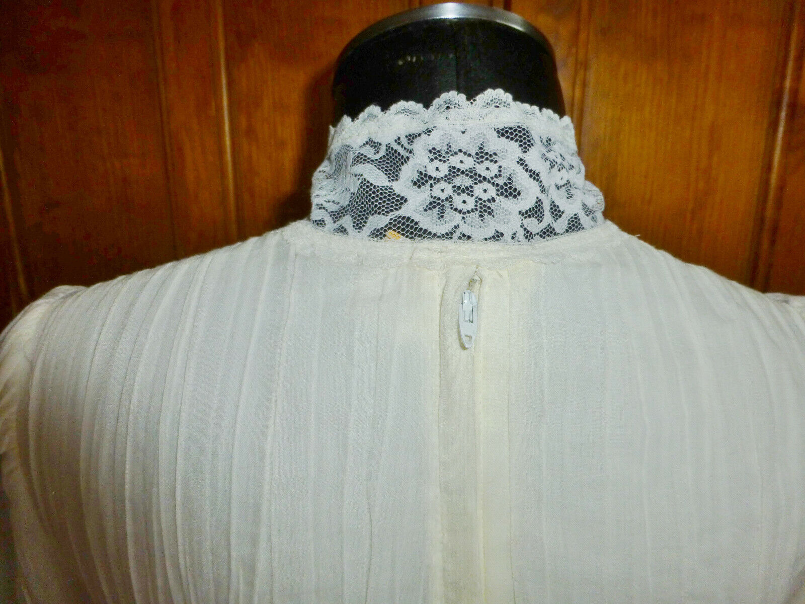 Vintage 70s GUNNE SAX Gauze Cotton Lace Prairie C… - image 10