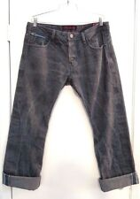 Cult of Individuality Japanese Denim Men's Jeans 36W 33L Med Gray Distressed
