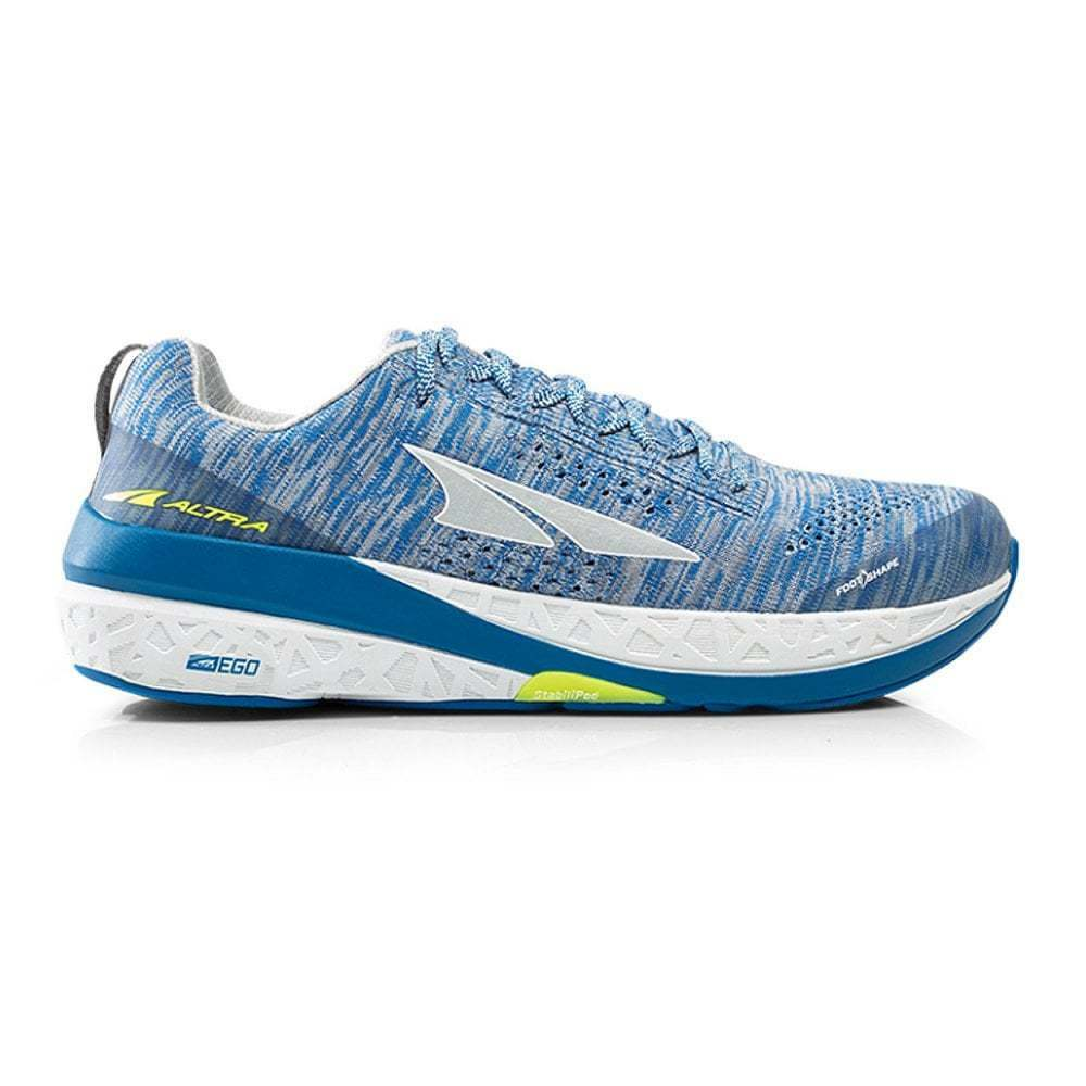 Altra Paradigm 4 Mens ZERO DROP HIGH CUSHIONING Road Running shoes White blueee