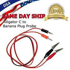 New Listingnew 3ft Alligator Probe Test Lead Clip To Banana Plug Probe Cable For Multimeter