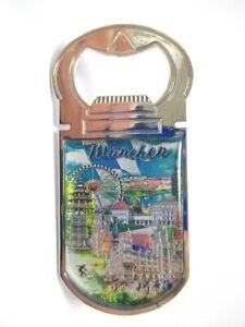 Muenchen-Marienplatz-Rathaus-Metall-Flaschenoeffner-Magnet-9-5-cm-Souvenir-Germany