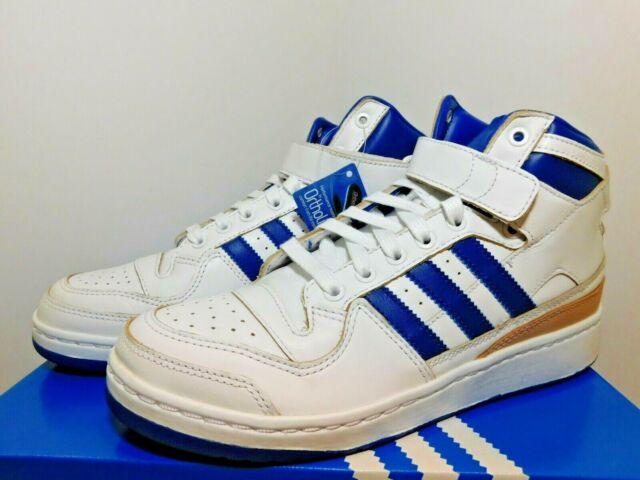 Size 9 - adidas Forum Mid White Royal