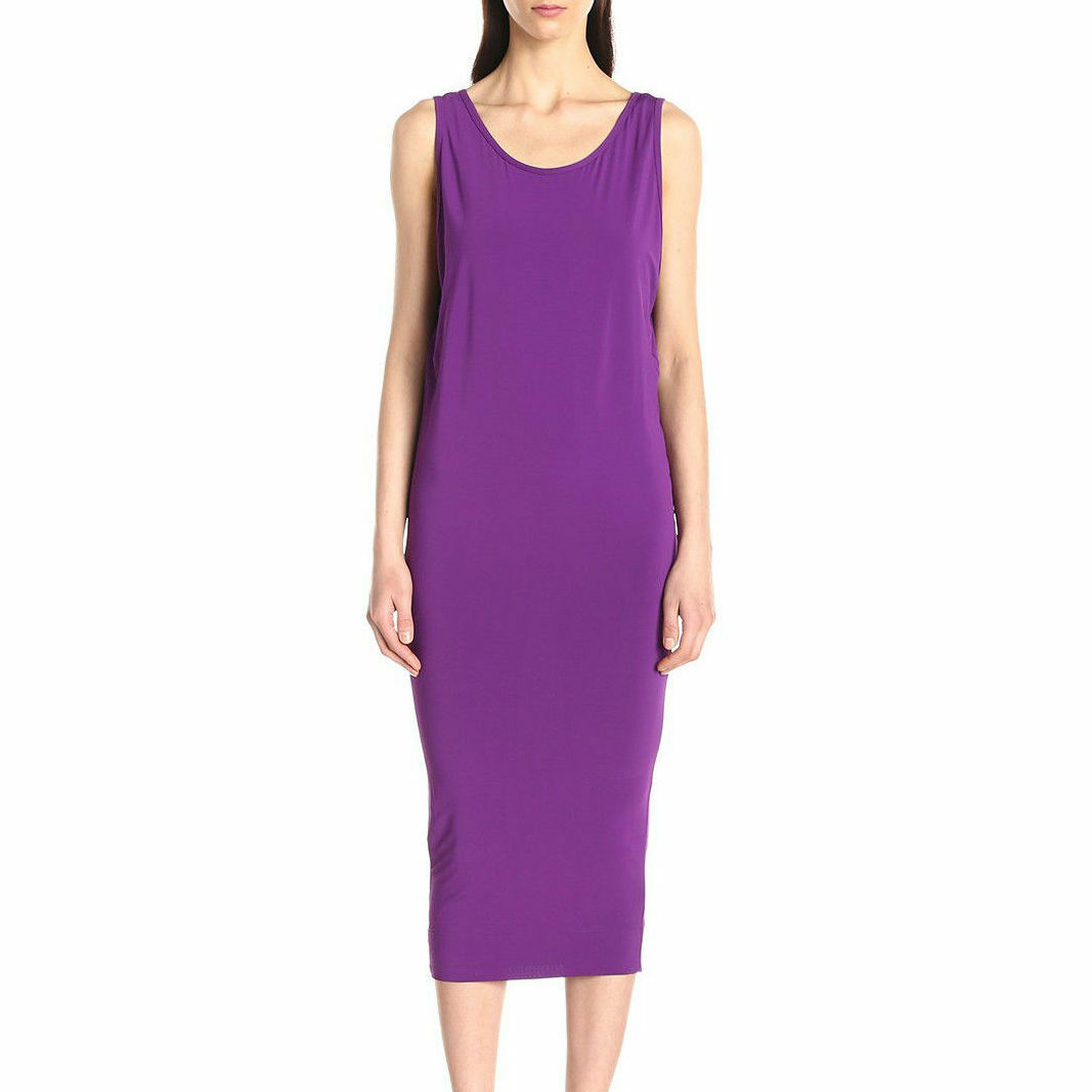 HELMUT LANG Faint Sleeveless Jersey Dress in Aniline Purple Size Size Size P XS 9aa2a9