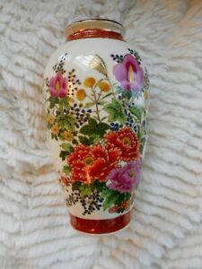 1890s SATSUMA Vase Antique Meiji Period  Japanese Chrysanthemum