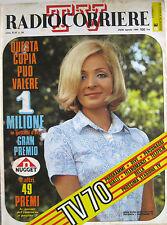 RADIOCORRIERE 34 1969 Anna Maria Xerry De Caro Nestore Ungaro Carlo Giuffrè