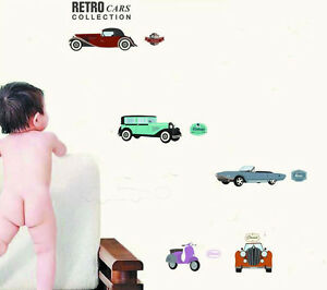 Retro-Vintage-Cars-Wall-Decal-Removable-Stickers-Kids-Nursery-Art-Mural-Decor