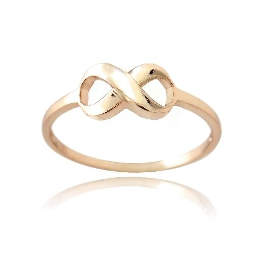 18K Rose Gold over 925 Silver Polished Infinity Ring