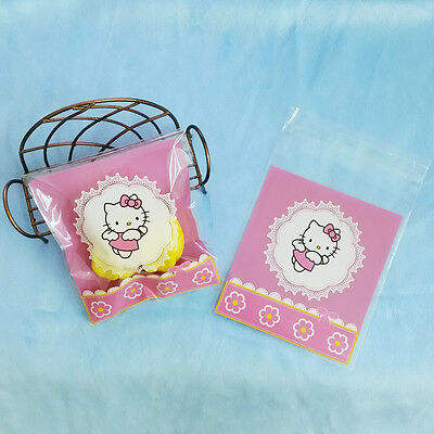 Peel N seal cute flying kitty cat cello cellophane party treat cookie candy bag