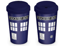 Doctor Who Tardis Double Wall Ceramic Travel Mug with Silicon Lid MGT23226
