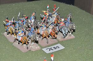 25mm-Francese-Napoleonico-USSARI-12-Cavalleria-in-metallo-verniciato-CAV-7630