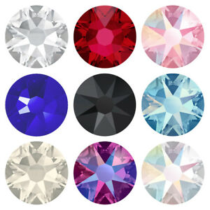 Genuine-SWAROVSKI-Crystals-2058-amp-2088-Foiled-Flat-Back-Rhinestones-All-Colors