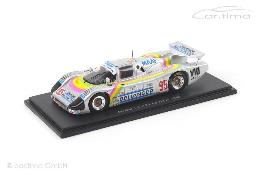 Propre c6  - 24h Le Mans 1986-Bassaler Lacaud tapy-spark - 1 43  magasin d'usine