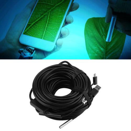 20m 5.5mm Endoscopio USB con 720P Cámara Impermeable para Coche Tubo Inspección Bs
