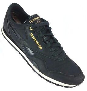 0b2472f4023 Reebok Classic Sneaker Women s 10 Black Gold low top athletic shoes ...