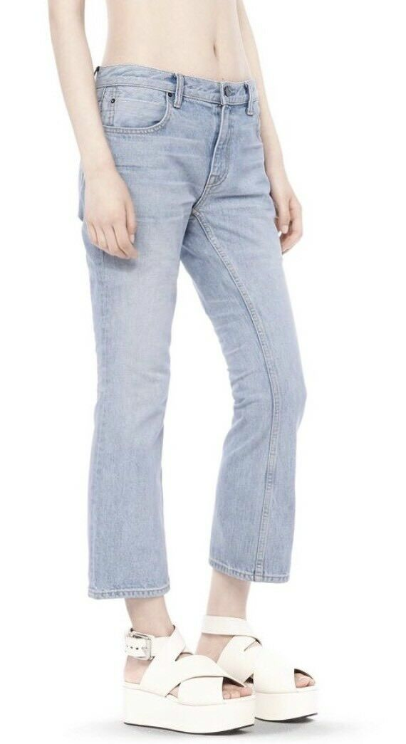 Alexander Wang  Trap Jeans Größe 26 Crop Light Wash Denim NWT 275