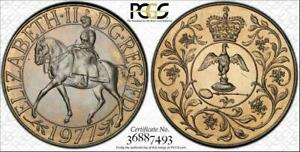 1977-GREAT-BRITAIN-25-NEW-PENCE-JUBILEE-PCGS-MS65-BEAUTIFUL-TONED-COIN-LOW-POP