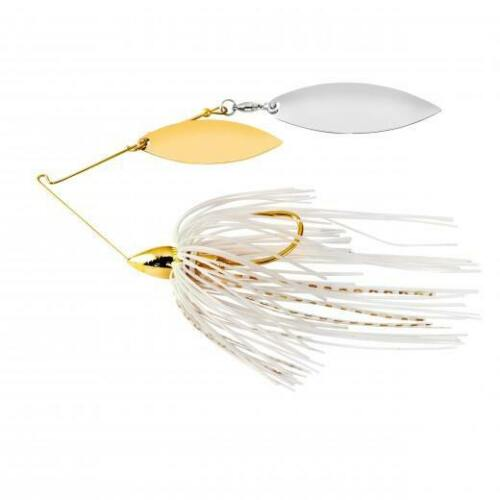 War Eagle Double Willow Gold Frame Spinnerbait Wire Bass Fishing Lure