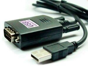 8-Cavi-Adattatore-Convertitore-USB-Maschio-A-Seriale-DB9-RS-232-0-8-Metri-9-Pin