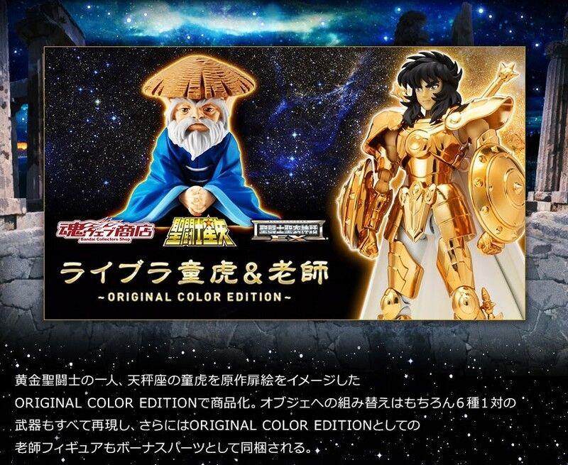 P  BANDAI PREMIUM SAINT SEIYA CLOTH MYTH EX LIBRA DOHKO & SENSEI ORIGINAL COLOR