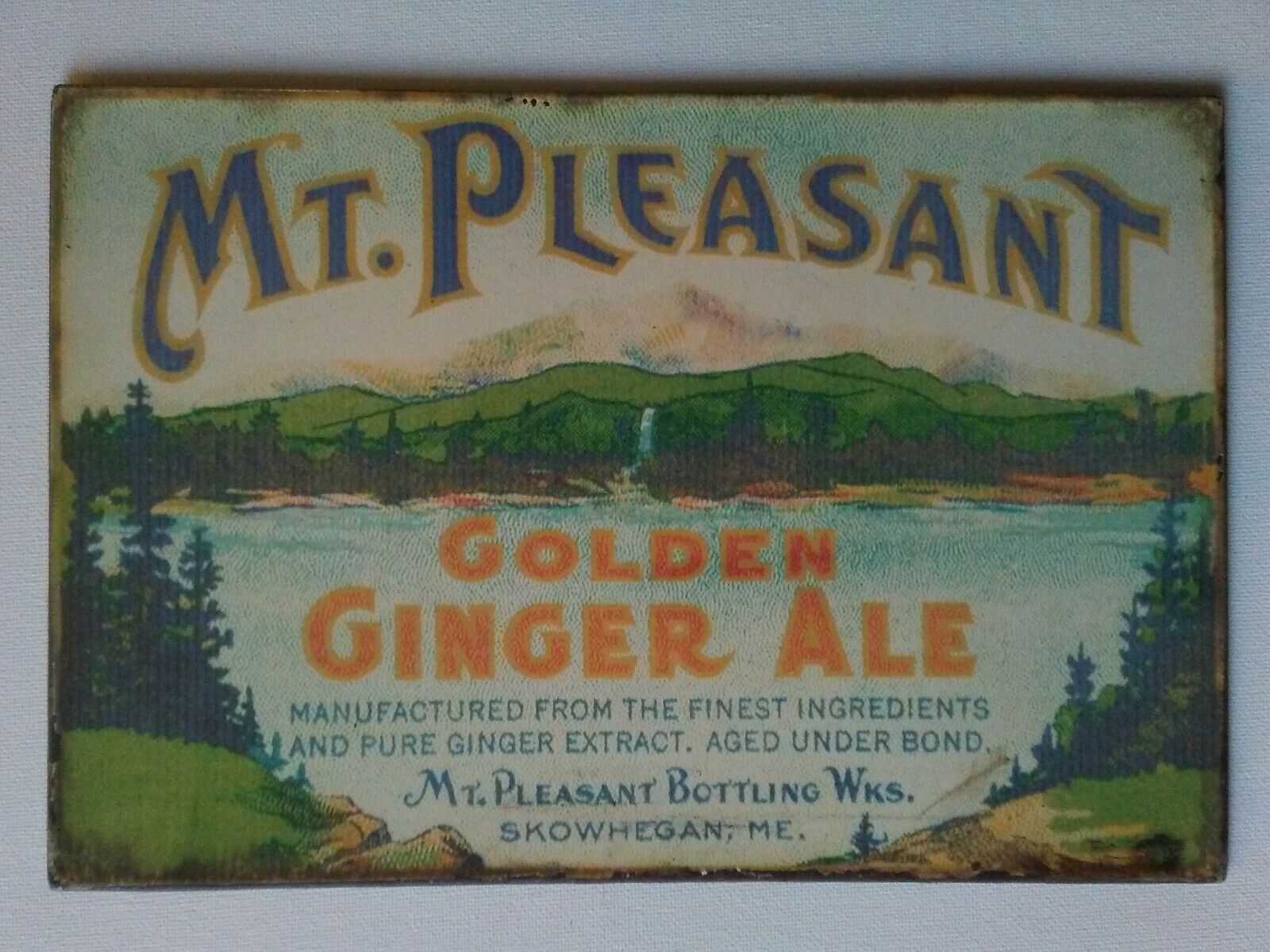 Coleman/'s Ginger Ale Vintage Reproduction Metal Sign 8 x 12